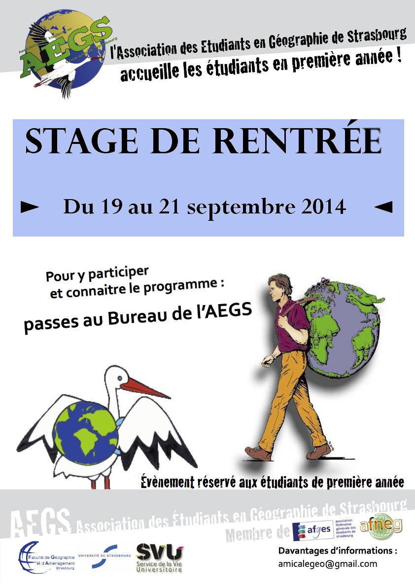 Stage de rentrée L1 2014