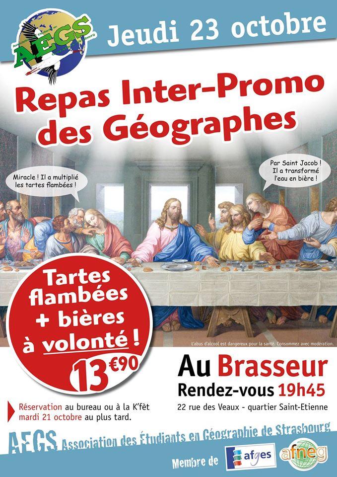 Affiche repas interpromo 2014